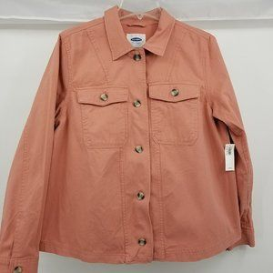 Old Navy Coral Button-Up Jacket